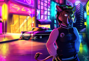 Vaporwave Town by Sausagewolf