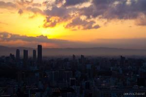 Osaka Skyline by aaronactive
