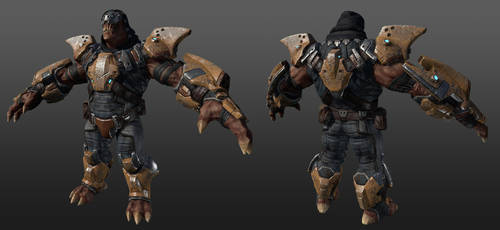 Alien Warrior by RedHeretic