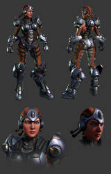 Technomancer Posed Renders by RedHeretic