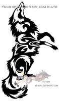 Howling tribal by Arixona
