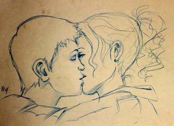 percabeth kiss by tetrapercu