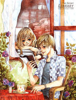 Girl_in _the_secret_library by depinz