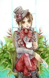 red_lady by depinz