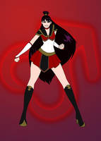 Sailor Mars the Firebender by GlowingMember