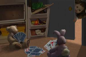 PS'd Desktop - Midnight Poker by GlowingMember