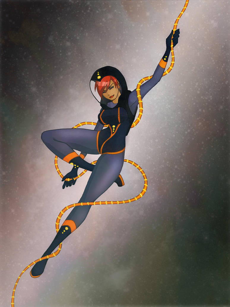 Spacegirl from April 28 by GlowingMember