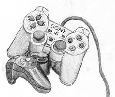 PS2 Controllers by GlowingMember