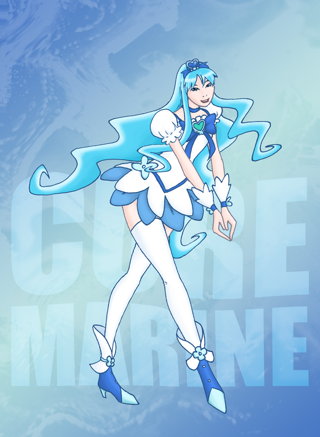 Magical Girl  Cure Marine by GlowingMember