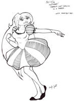 INKTOBER 2: Geraldine by GlowingMember