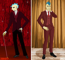 Ten Year Comparison: Phil by GlowingMember