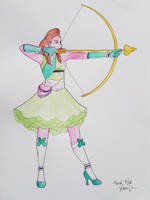 Magical Girl Archer by GlowingMember