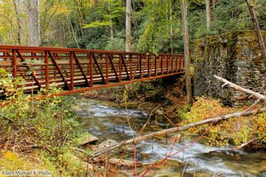 the synthetic awakening - Autumn House and Bridge by thsyntheticawakening