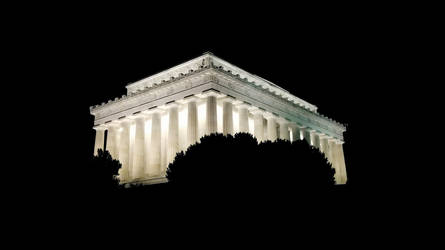 Lincoln Memorial at Night by thsyntheticawakening