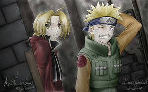 Ed and Naruto - FMS by StudioCrossover