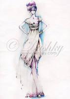 purple bride by dushky