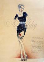 portrait dress by dushky
