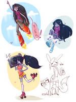AT- Marceline doodles by Laurangeblossom