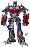 Optimus Prime in Color by Ruze789