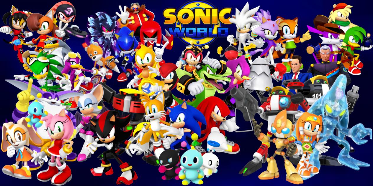Sonic World Wallpaper -Sonic Heroes Style new Ver by Shadic2001SonicWorld