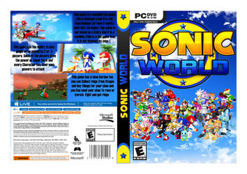 Sonic world (fan game) box cover v2.0 by Shadic2001SonicWorld