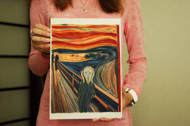 Quilling: The Scream by Edvard Munch by Masherisha