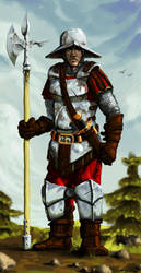 Stronghold Pikeman by LordGood