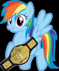 New World HeavyWeight Champion Rainbow Dash by Mirai-Digi