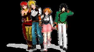 MMD RWBY: Team JNPR by Mirai-Digi