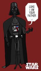 Sticker Darth Vader by rob-jr