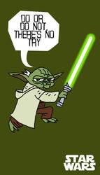 Yoda Sticker by rob-jr