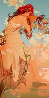 My Art Nouveau by DarkBrunhild