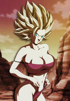 Caulifla preparing for the Tournament by Dannyjs611
