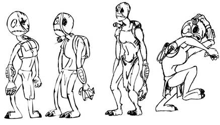Ewo cartoon poses by hecrazy