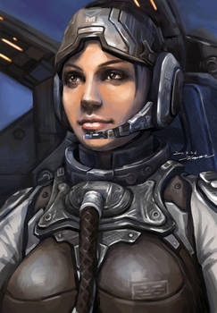 StarCraft 2 Banshee by darkdamage