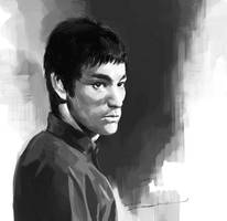 Bruce Lee in Enter the Dragon by darkdamage