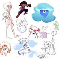 art block doodles by questionedSleeper