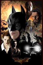 Batman Begins Poster by TasaiGeijutsuka