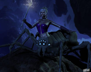 Lolth, Demon Queen of Spiders by twosheds1