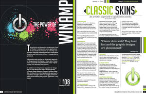 Winamp Magazine Spread by mattnagy