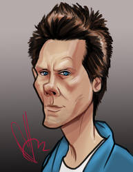 kevin Bacon by scottssketches