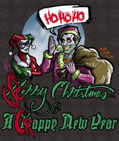 Christmas with the Joker by scottssketches