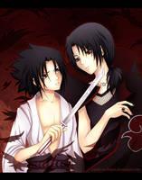 Uchiha brothers by Tenshi-no-Hikari