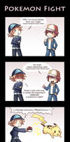 Pokemon fight by Tenshi-no-Hikari