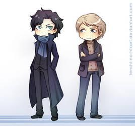 BBC Sherlock and John by Tenshi-no-Hikari