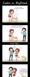 Cookie vs. Boyfriend by Tenshi-no-Hikari