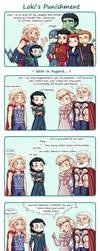 Loki's punishment by Tenshi-no-Hikari