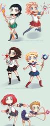 Sailor Avengers by Tenshi-no-Hikari