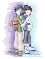 Digimon Twins by tpm-vaporeone