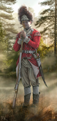 Grenadier of the 40th Foot (Halifax, Spring 1776) by ManuLaCanette